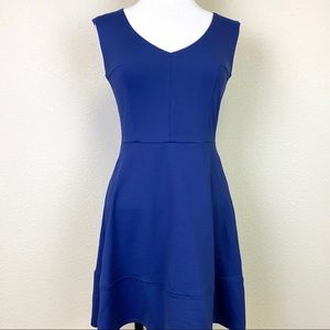 CYNTHIA ROWLEY Navy Sleeveless Fit & Flare Dress